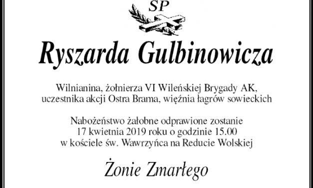"""śp.Ryszard Gulbinowicz ps. """"Ful"""" (1921-2019)"""