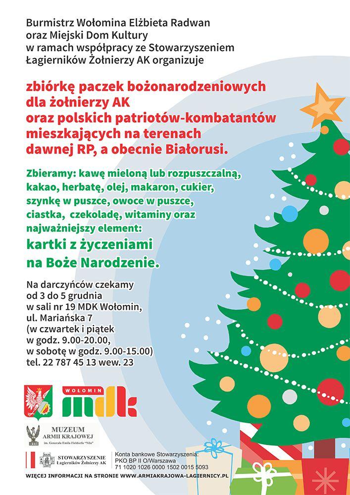 Zbiórka Bożonarodzeniowa wWołominie dla Kombatantów