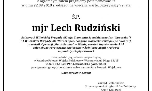 Ś.P. mjr Lech Rudziński